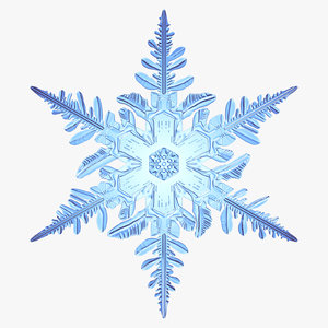 snowflake new 3d max