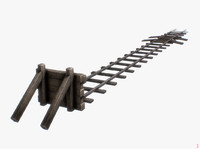 free bumper rail railway 3d model