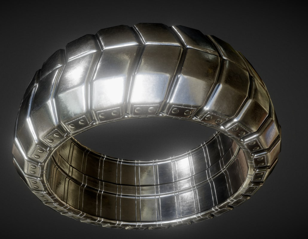 3d futuristic tire silver version