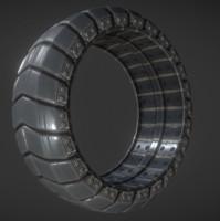 futuristic tire 3d dxf