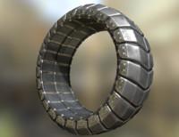 futuristic tire metal 3d dxf