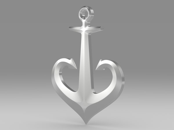 3d anchor modeled model