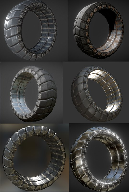 3d model futuristic tire