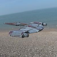 3d spaceship format model