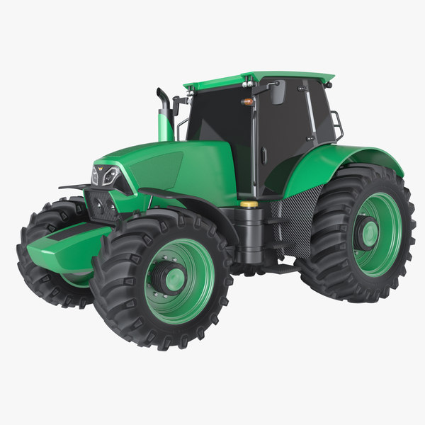 photoreal tractor 3d max