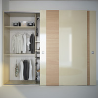 Wardrobe with decor