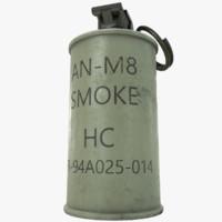 max an-m8 smoke grenade m8