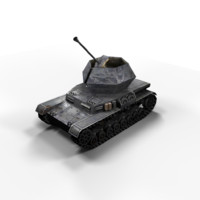 Ostwind Flakpanzer Low Poly