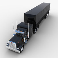 3d max van semi-trailer truck
