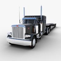 Lowboy Trailer Semi Truck V1