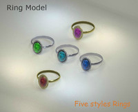 ring gold various 3d model