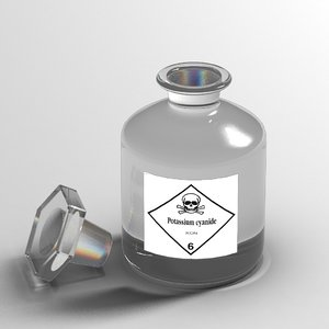 max potassium cyanide bottle