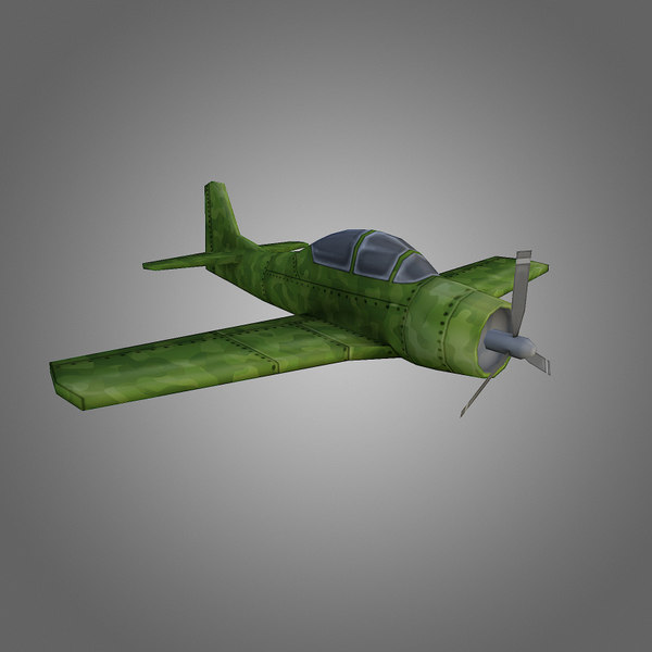 low-poly airplane 3d obj