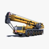 mobile crane industrial 3d c4d