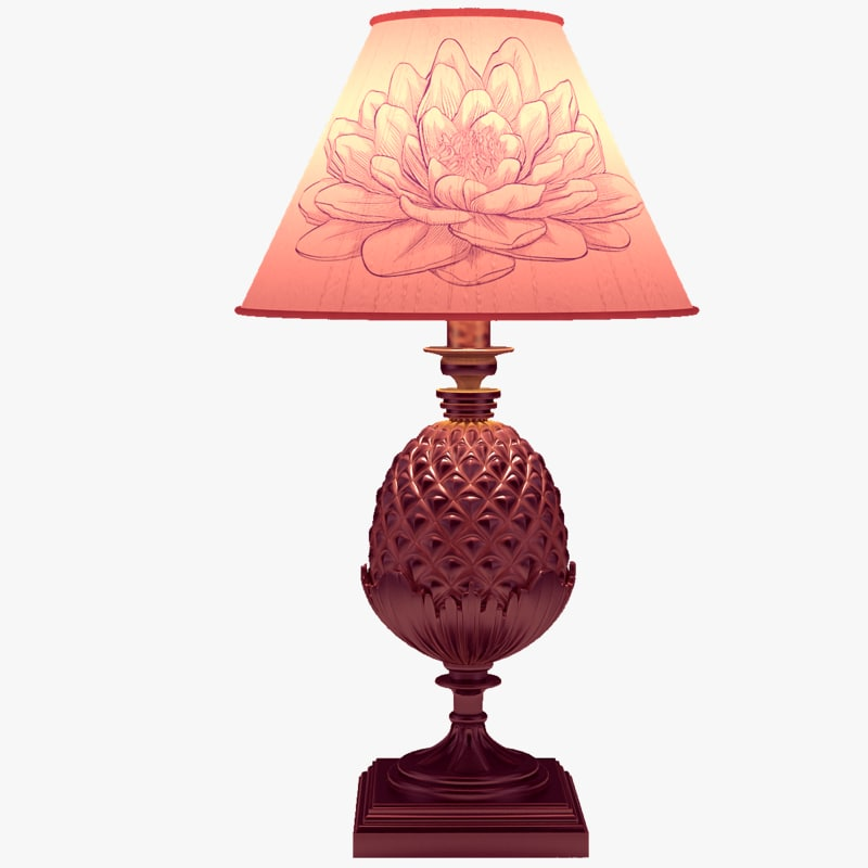 table lamp 3d obj
