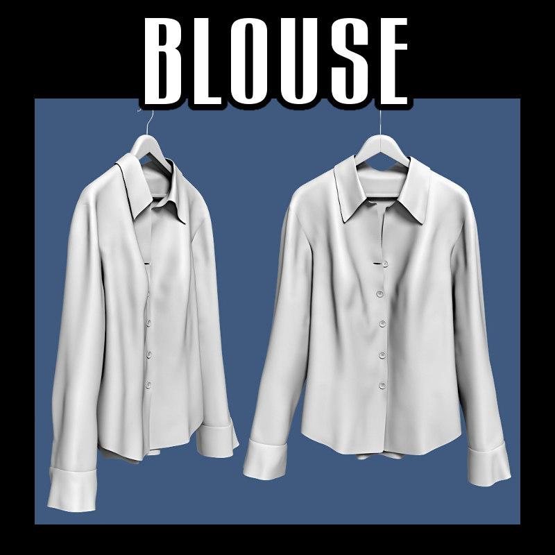 3d blouse hanger model