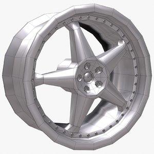 wheel disk 2 3d model