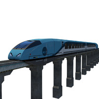 futuristic electromagnetic train