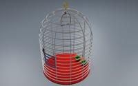 birds cage 3d model
