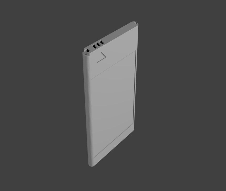 3d model battery mobile