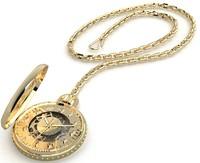 3d model gold pocket watch