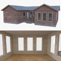 residential home interior house 3d obj