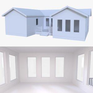 3d model residential home interior