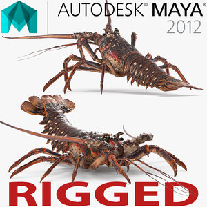 langouste rigged 3d ma