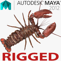 Lobster Rigged for Maya