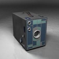 3d model vintage brownie camera