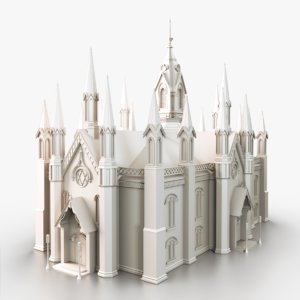 3d model gothic cathedral