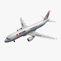 3d model airbus a320 air china