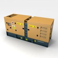 silent power generator 3d model