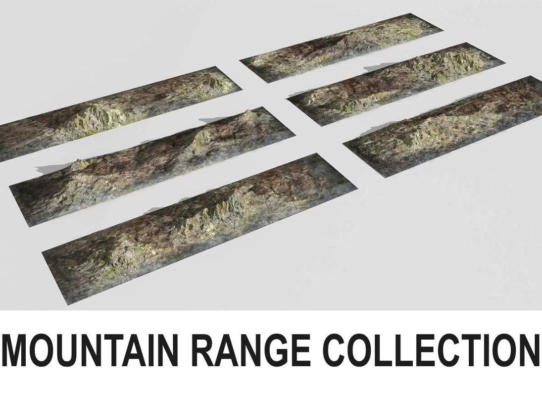 3d mountain range 6 terrains