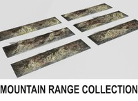 mountain range 6 terrains 3d model