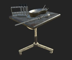 abandoned surgery little table obj