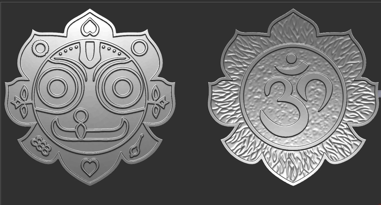 3d pendant jagannath model