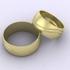 3dm wedding rings