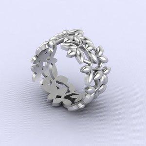 3d ring sprigs model