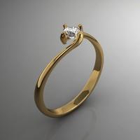 gem ring 3d model
