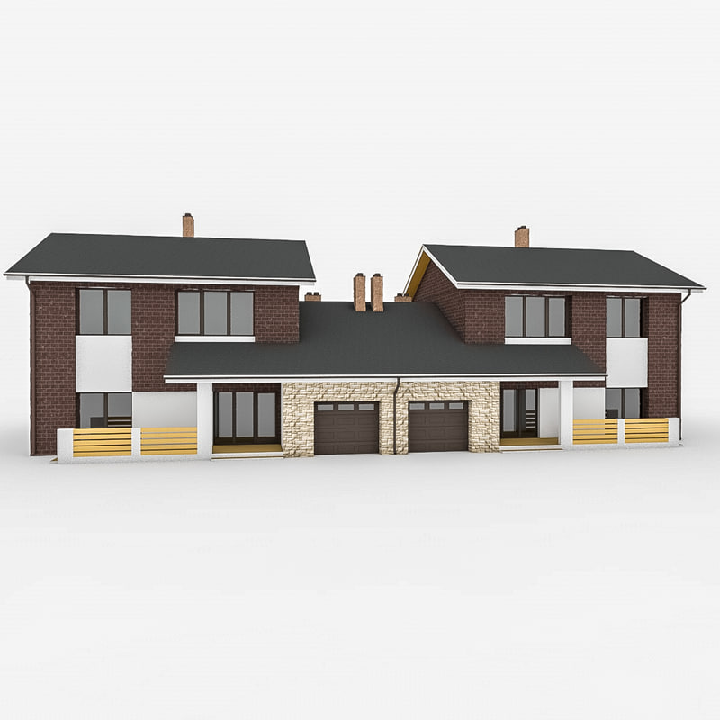 3d model stone modular duplex for Modular duplexes