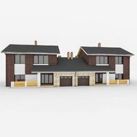 3d model stone modular duplex