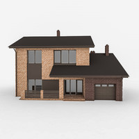 3d modular stone house model
