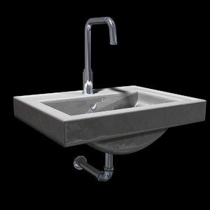 3d model modern sink