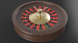 3d model roulette wheel