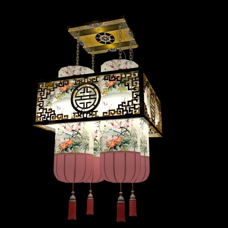 chinese palace lantern 3d max