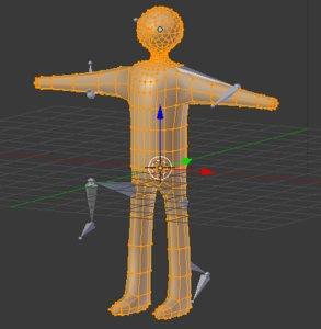 3d random stickman