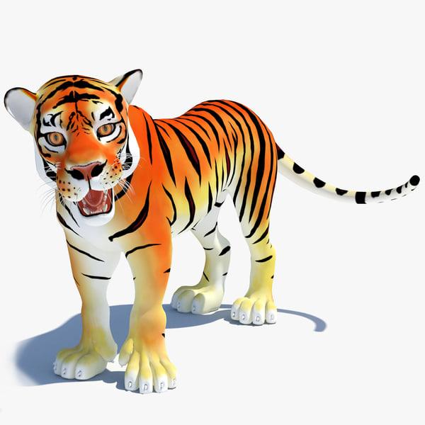max cartoon tiger rigged