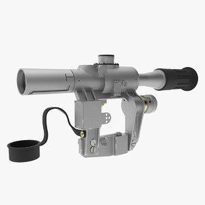 optical sight pso-1 pso 3d model