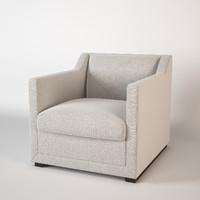 baker redding lounge chair 3d model